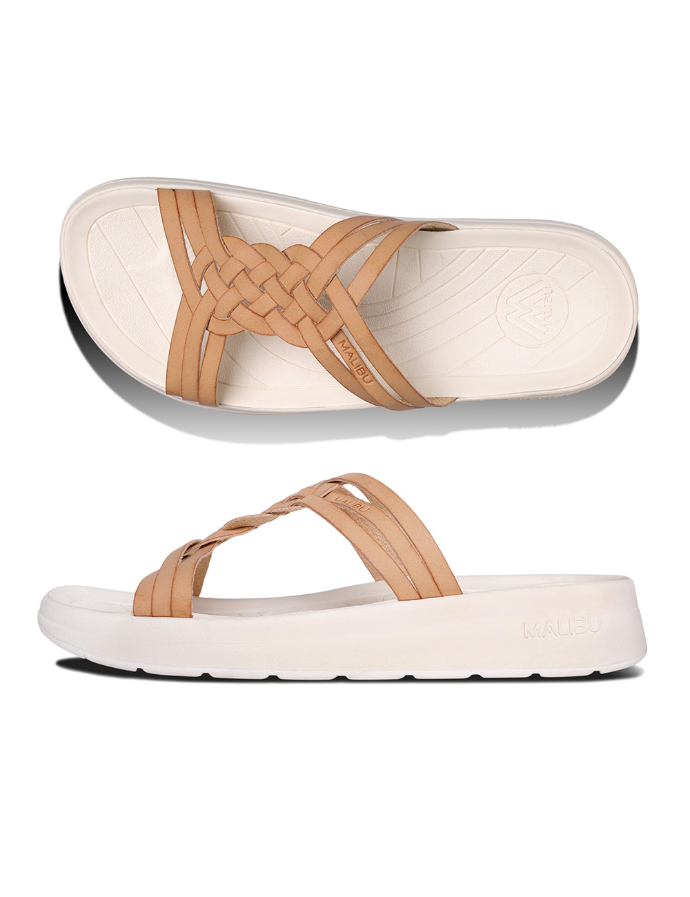 MALIBU : RIVIERA VEGAN LEATHER (BEIGE/PAPYRUS)