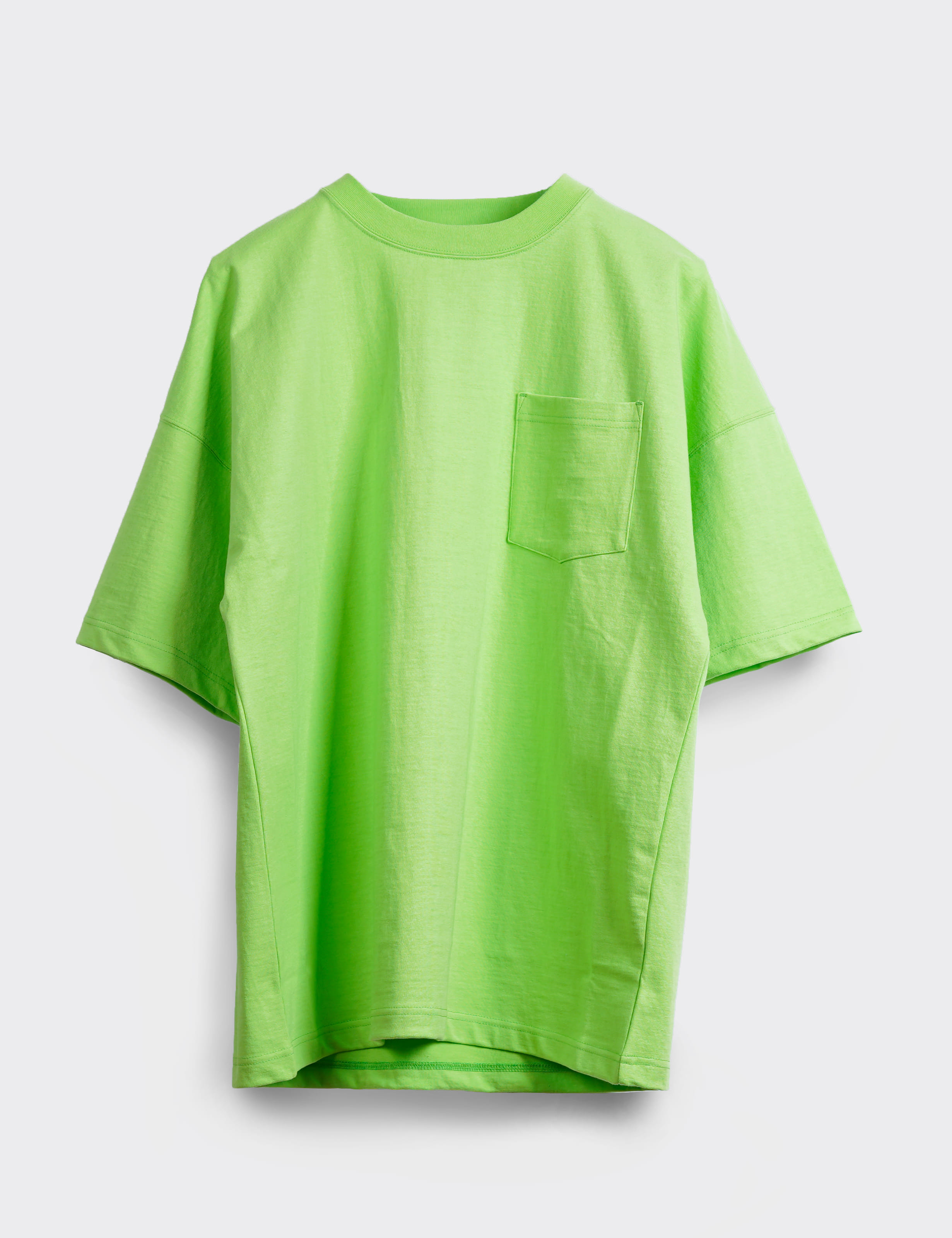 OVERSIZED POCKET TEE (L.GREEN)