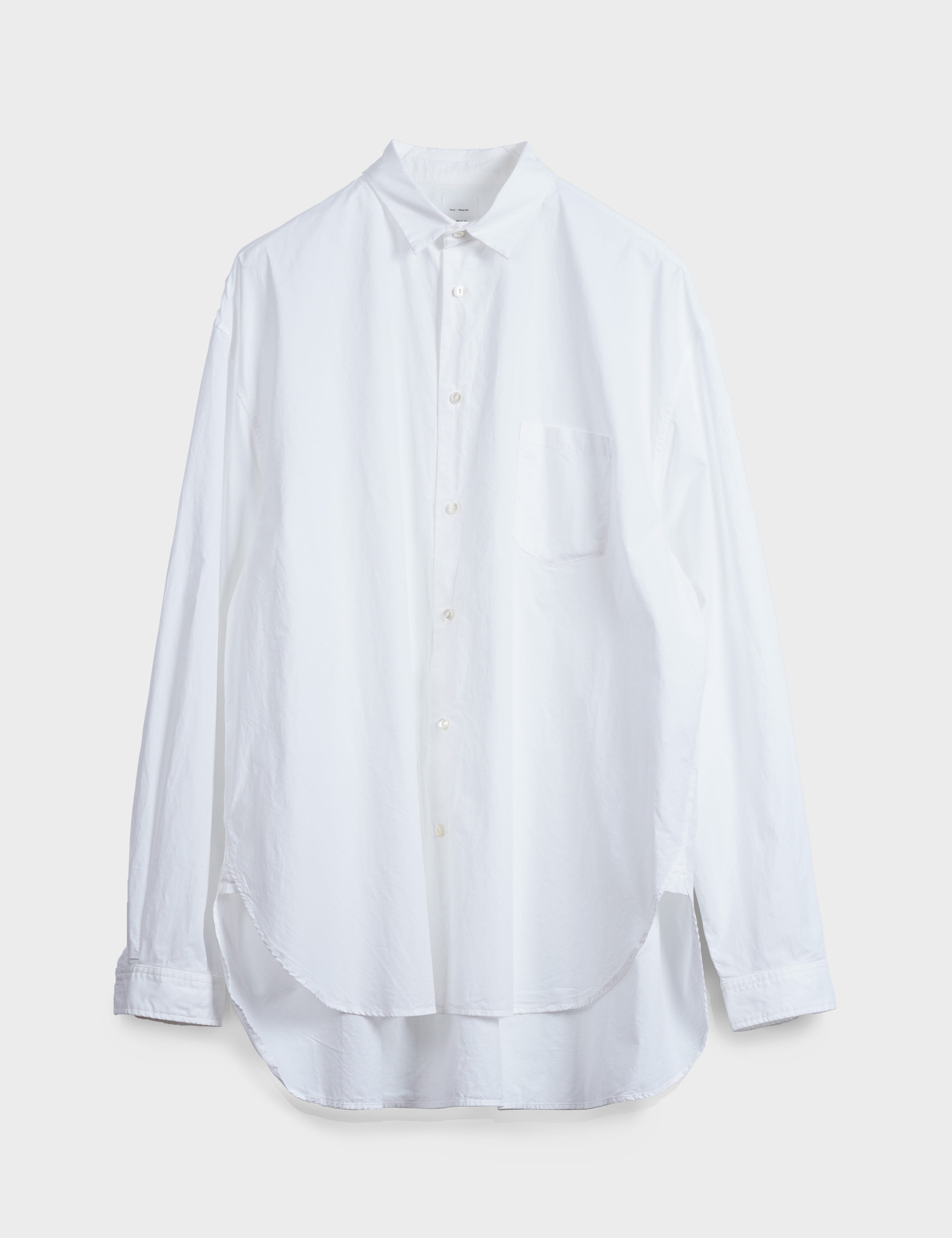 GARMENT DYED LOOSE FIT SHIRT (WHITE)