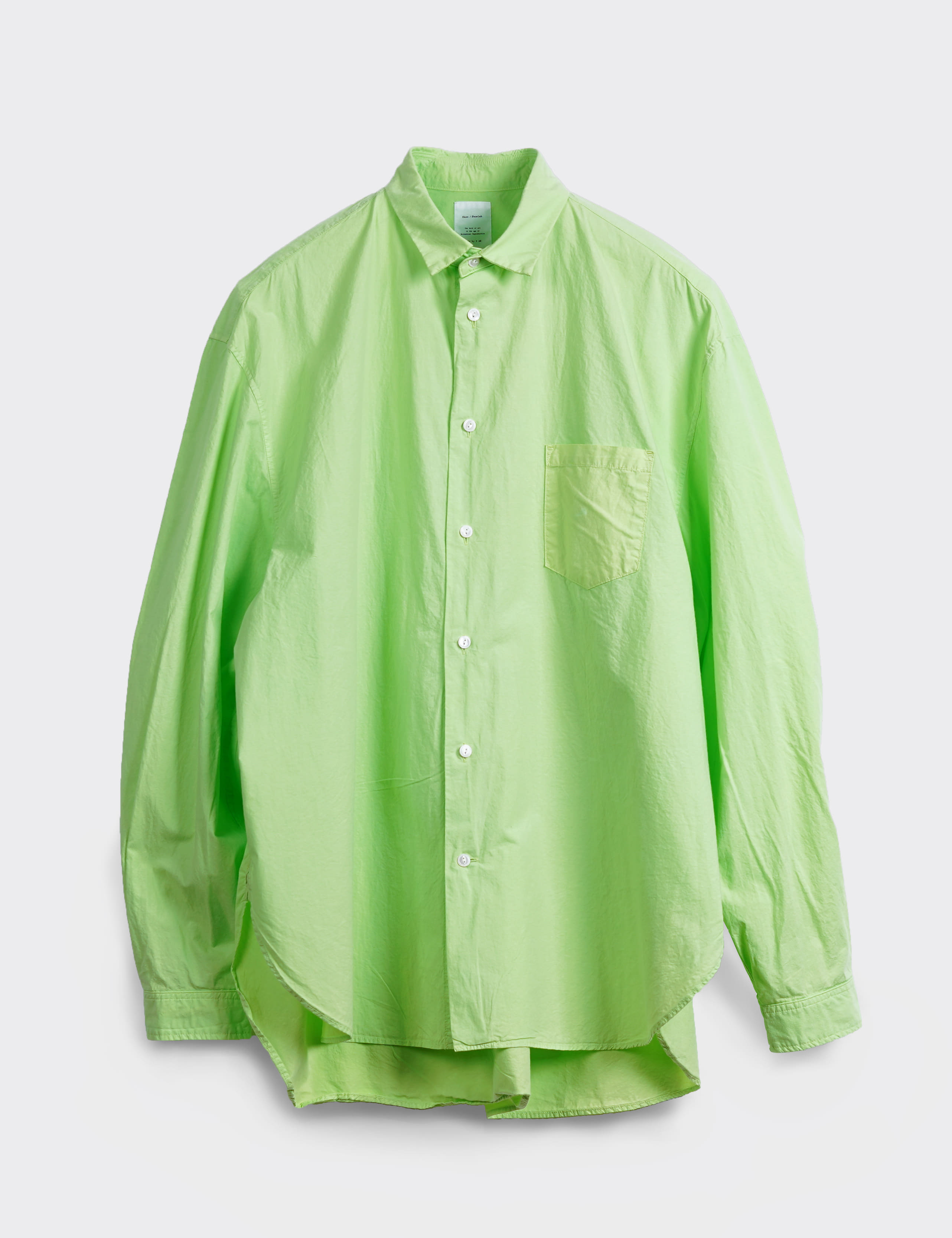 GARMENT DYED LOOSE FIT SHIRT (L.GREEN)