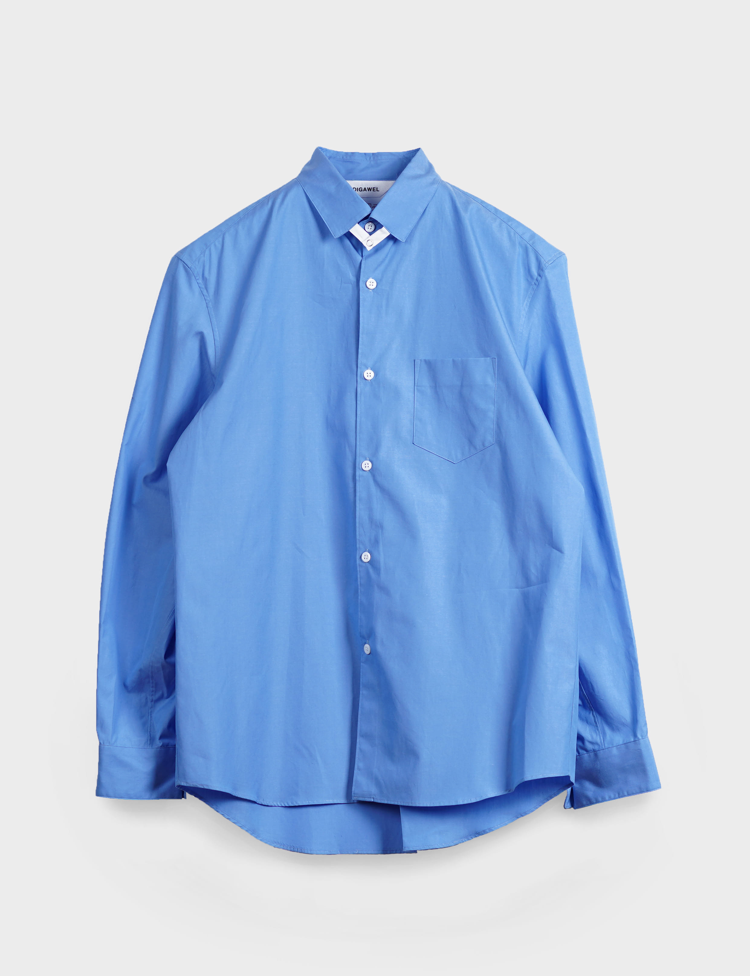 TAB COLLAR SHIRT (DARK SAX)