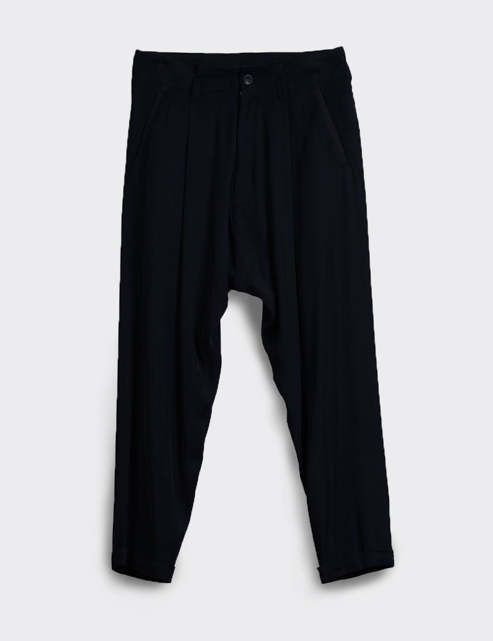 RAYON TUCK PANTS (BLACK)