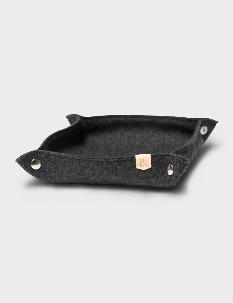 DESK TRAY WOOL (CHARCOAL)