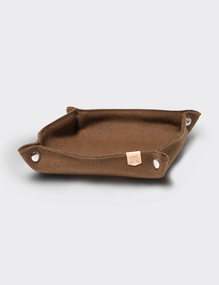 DESK TRAY WOOL (BROWN)