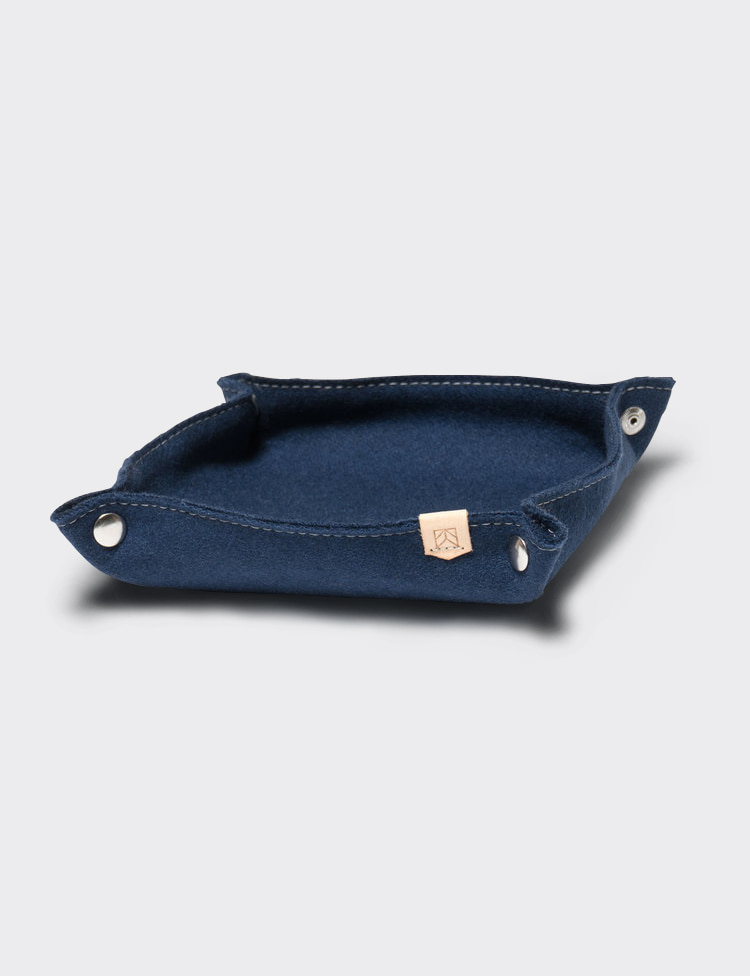 DESK TRAY WOOL (NAVY)