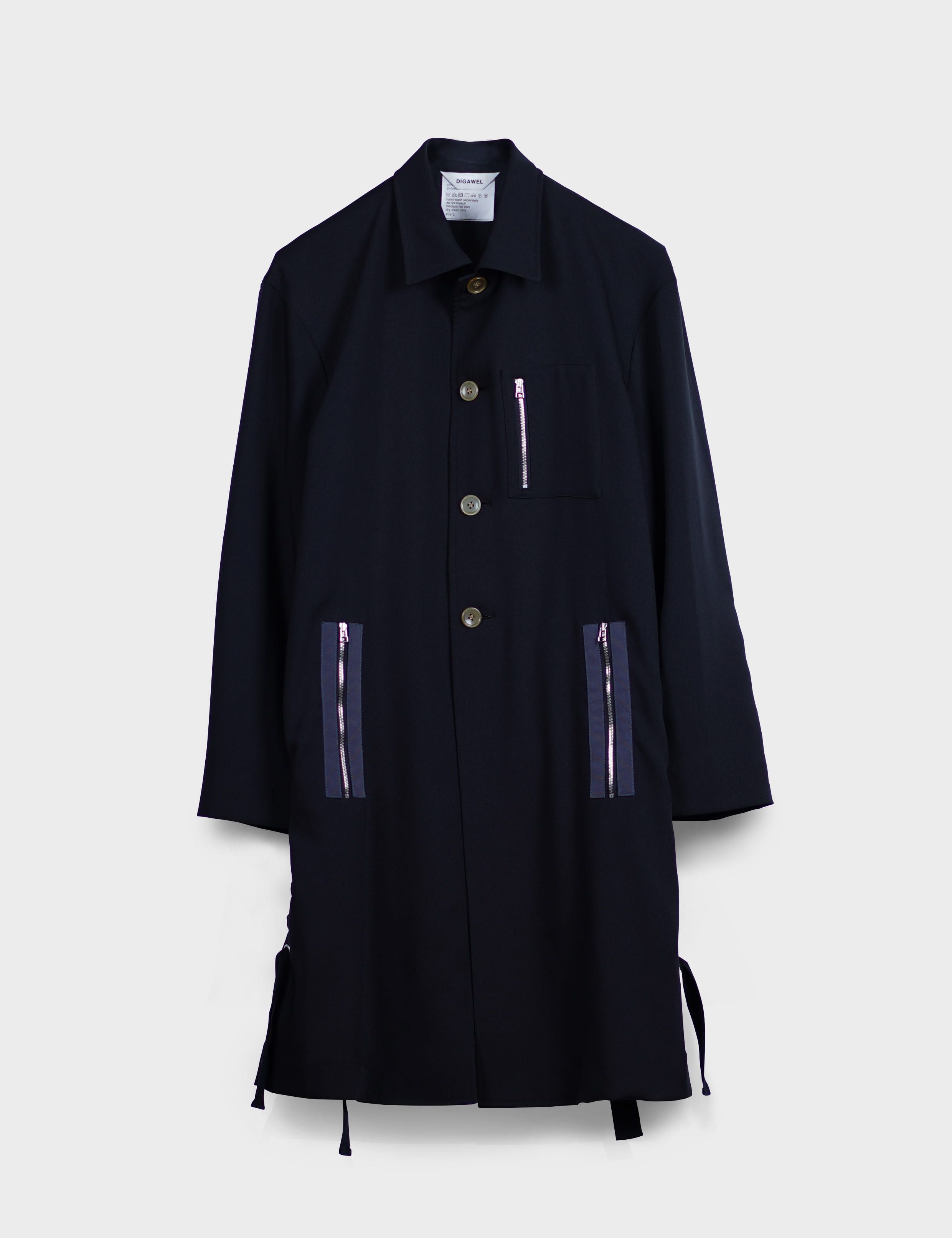 SIDE LACE-UP COAT (BLACK)