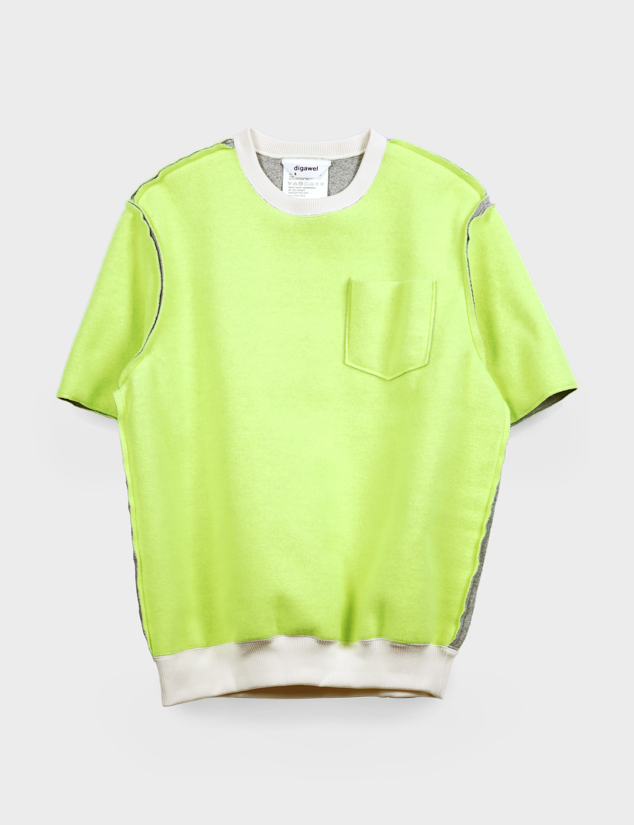 NEON BRUSHED BACK S/S (YELLOW)