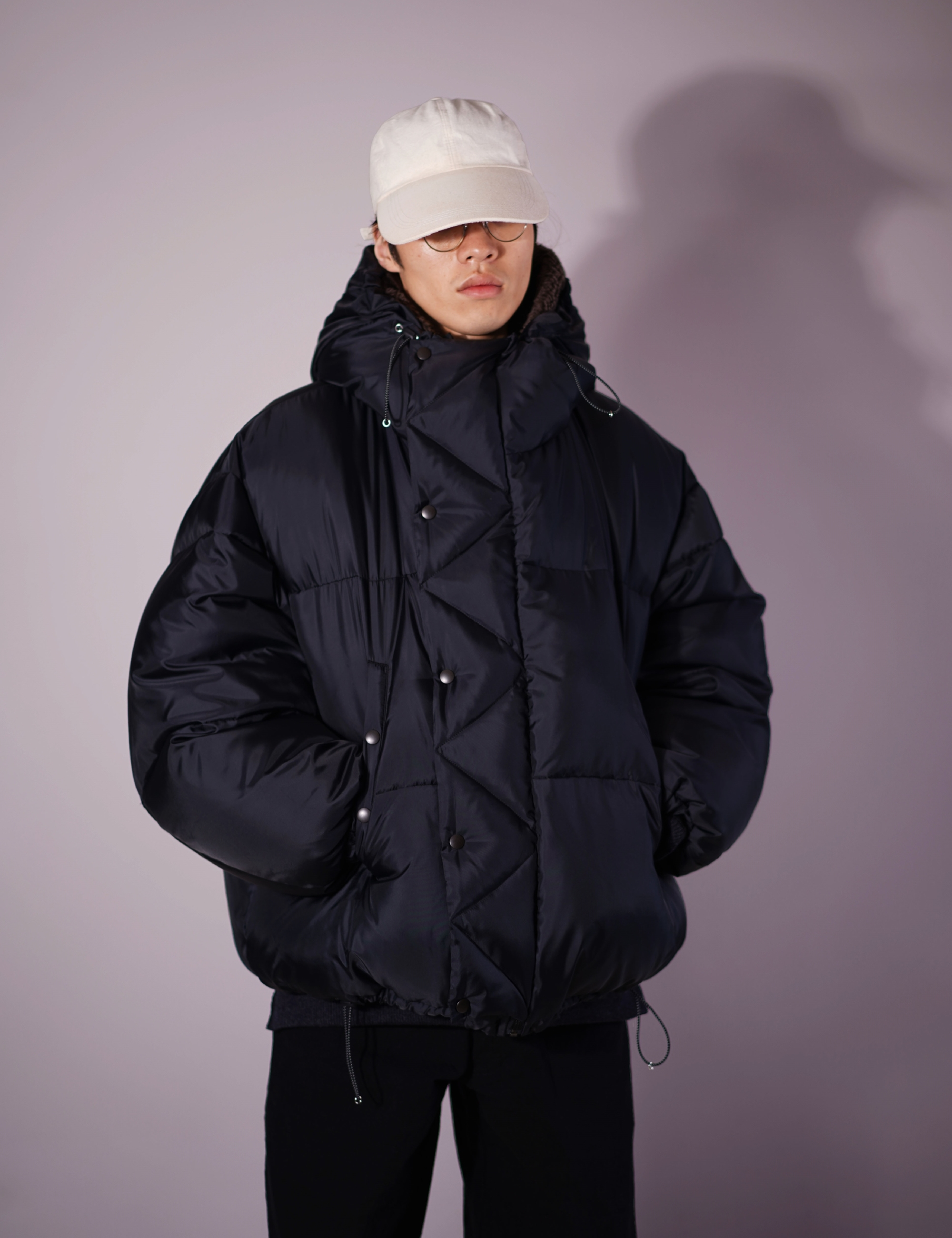 OVER SIZED DOWN PARKA (MAT BLACK)
