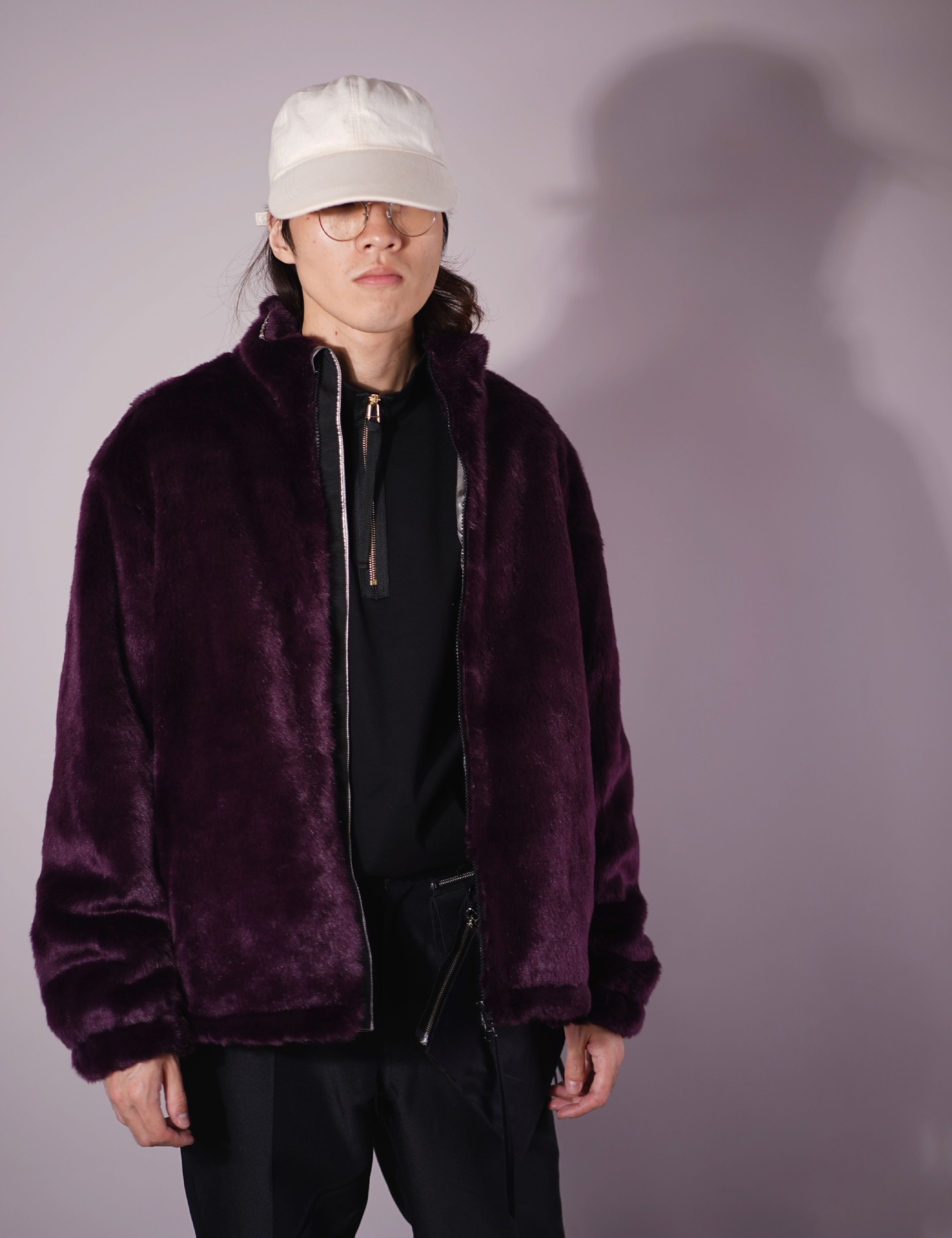 FUR BLOUSON (PURPLE)