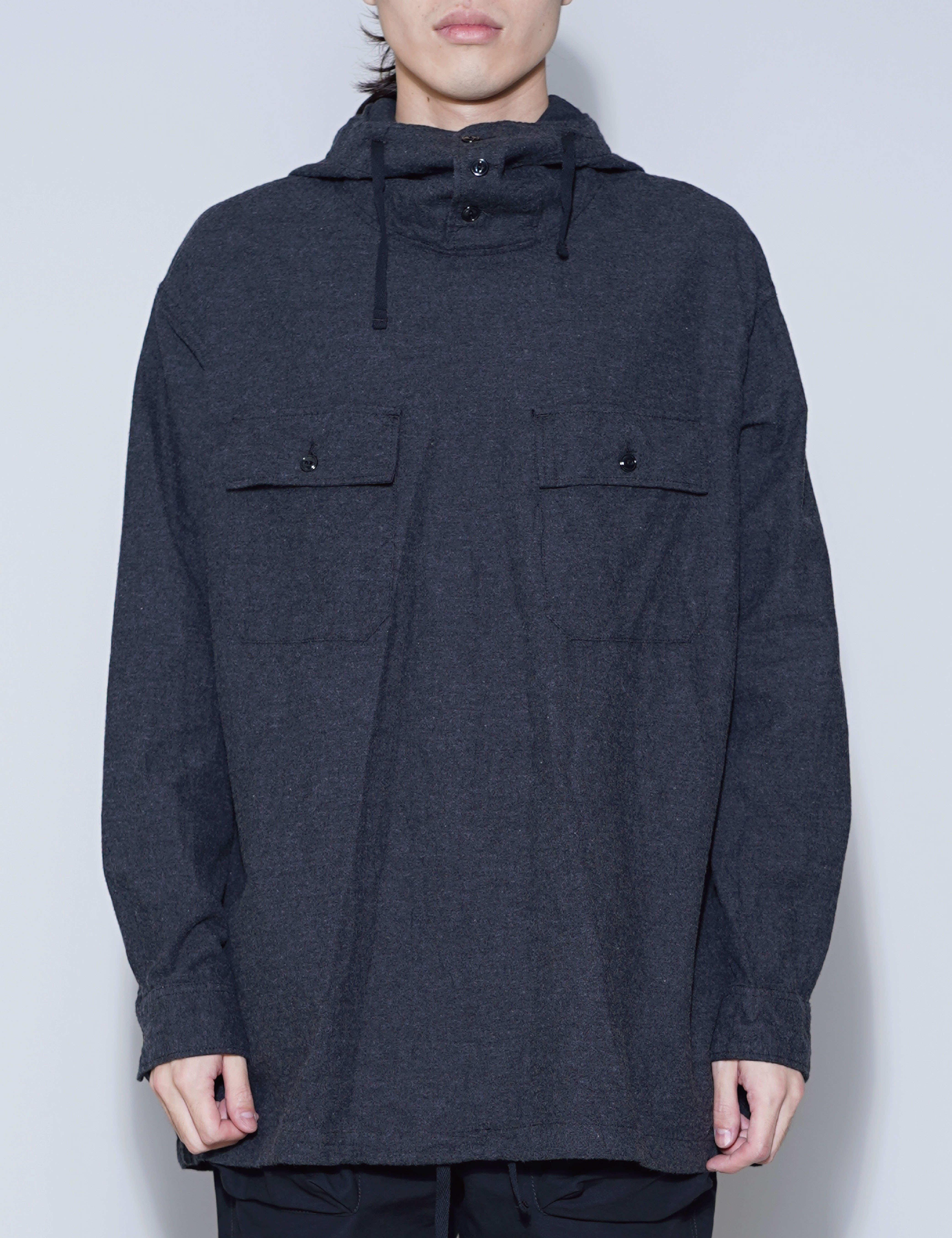 CAGOULE SHIRT (CHARCOAL HEATHER)