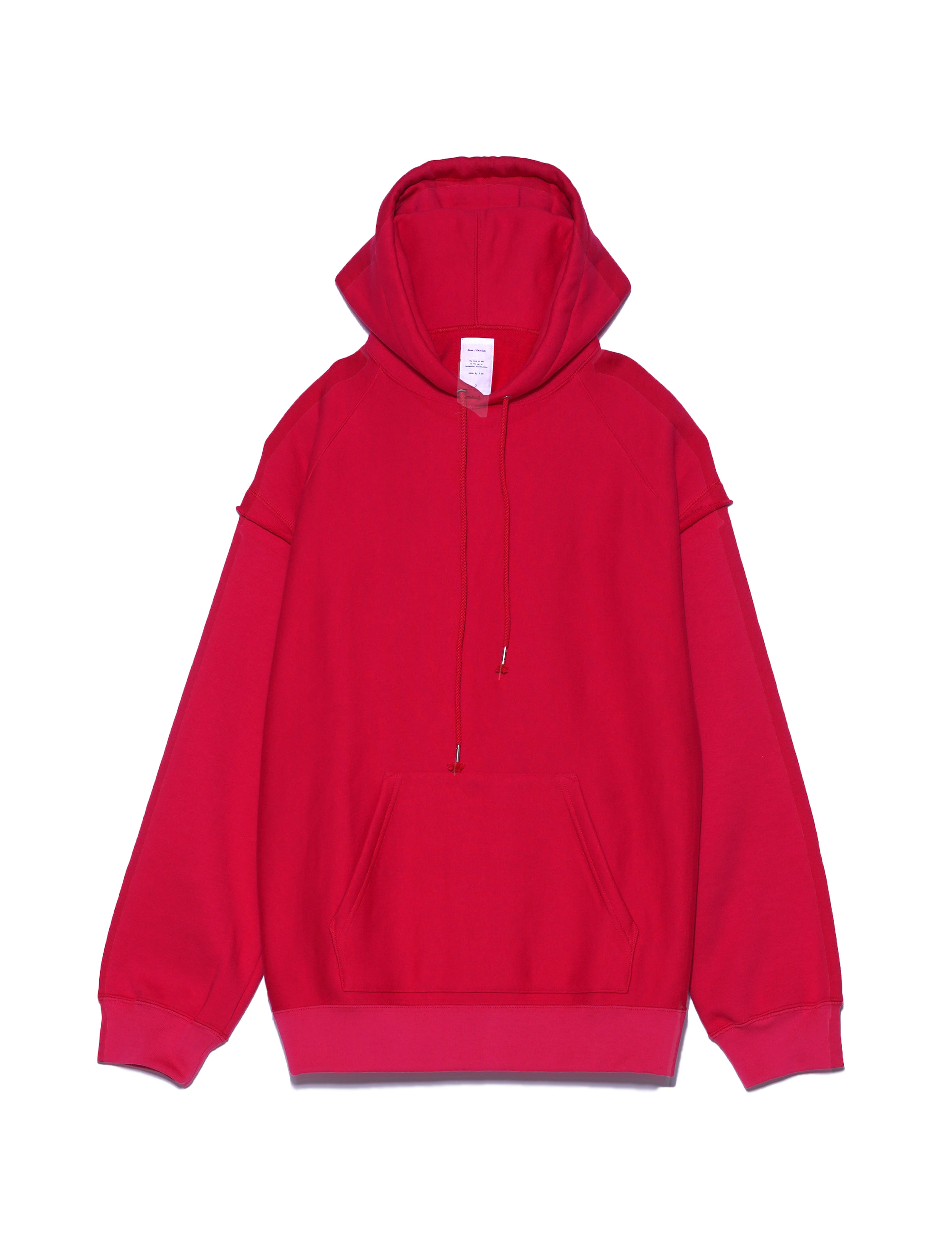 LAYERED SLEEVES SWEAT HOODIE (PINK)