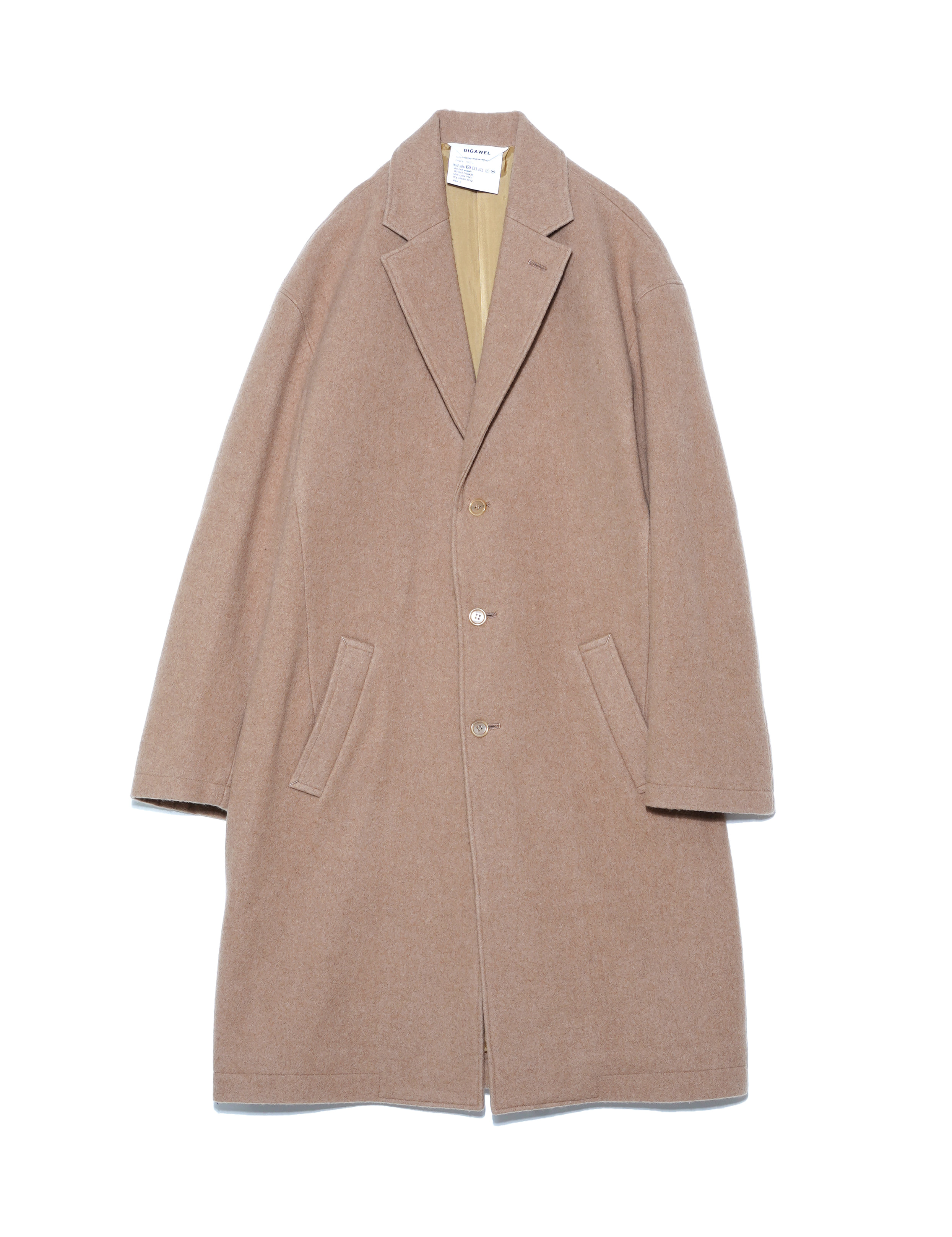 NAPPING LONG COAT (BEIGE)