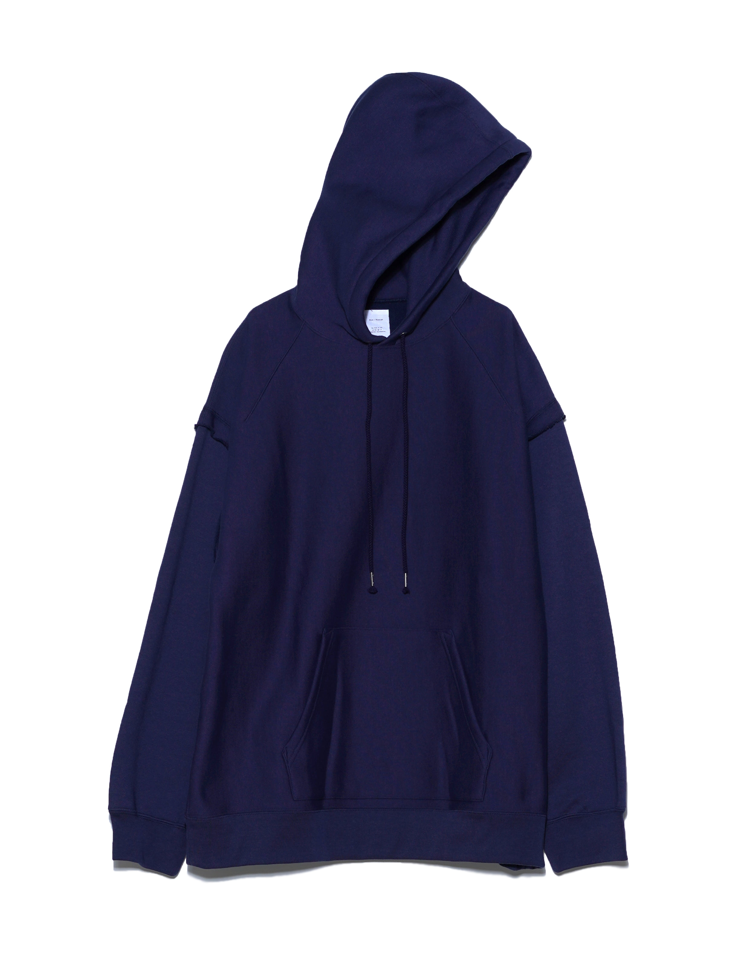 LAYERED SLEEVES SWEAT HOODIE (NAVY)