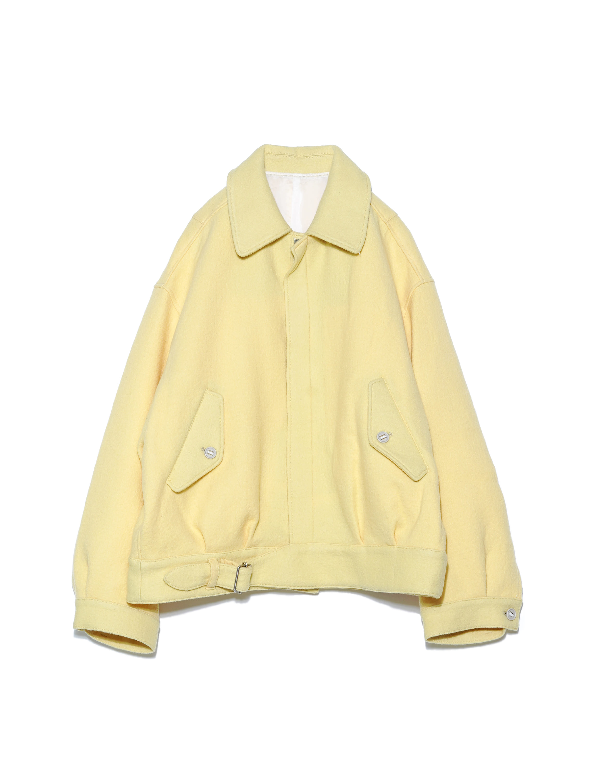 WASHED MELTON BATTLE DRESS JACKET (YELLOW)