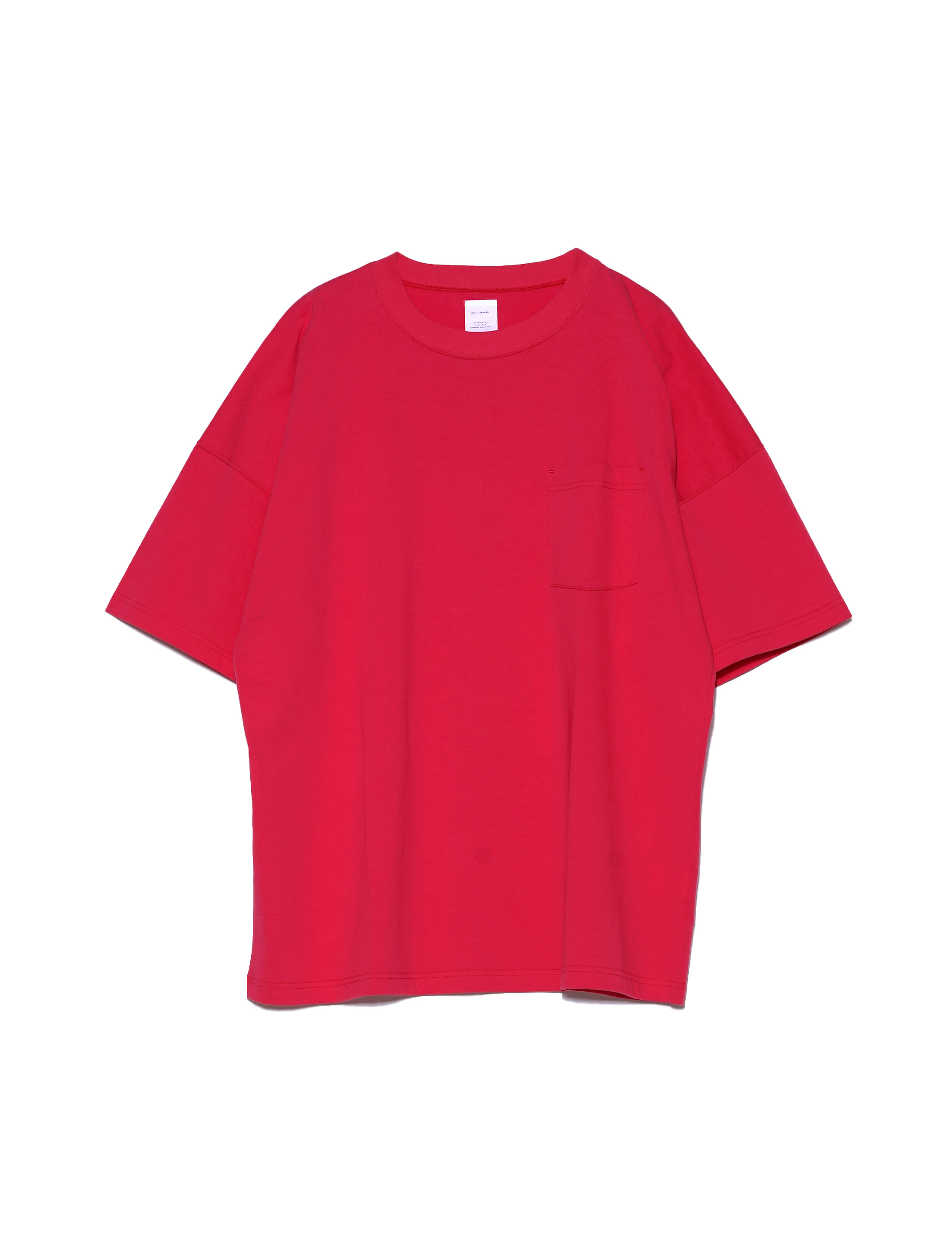 HALF SLEEVE POCKET TEE (PINK)