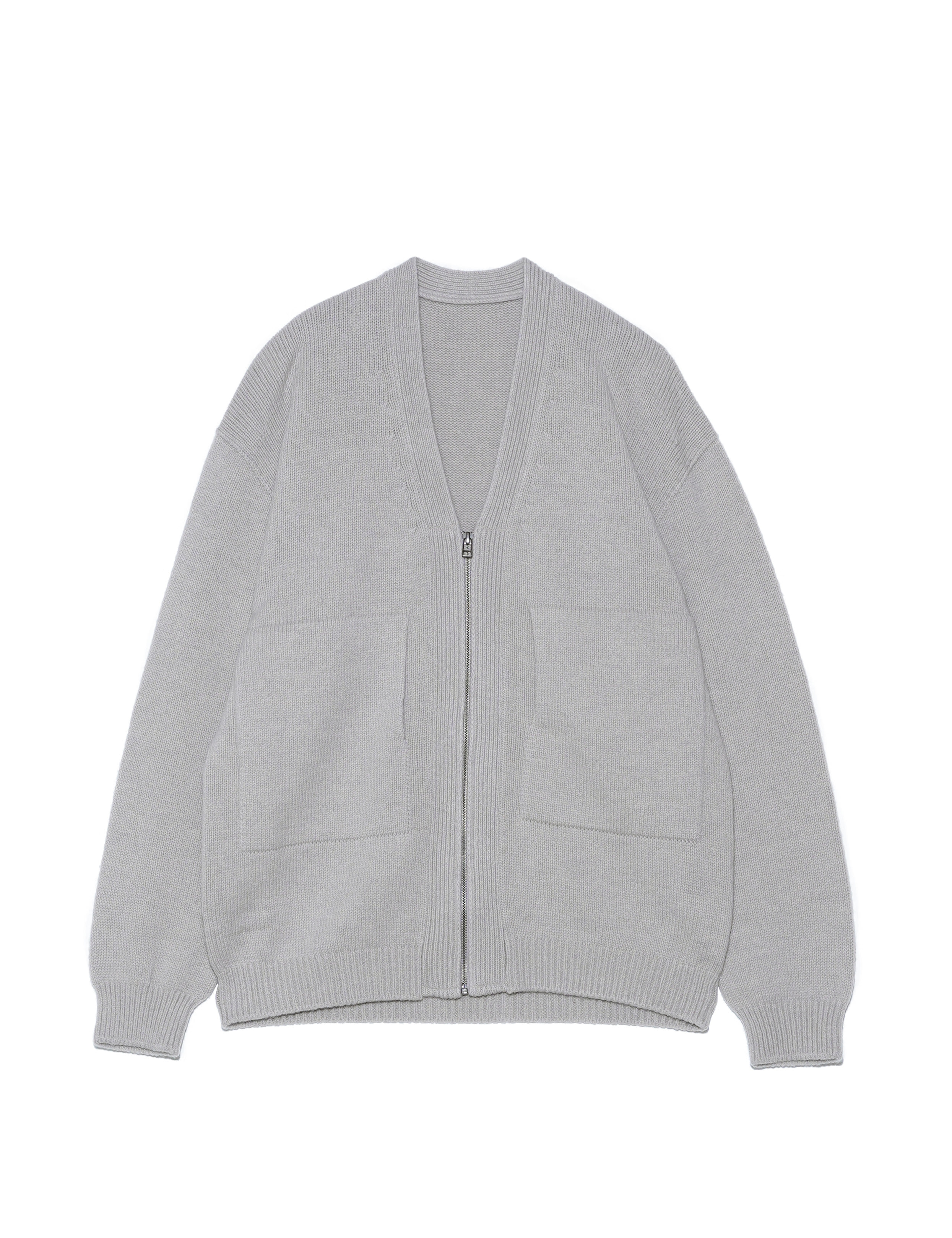 WHOLEGARMENT ZIP CARDIGAN (BEIGE)