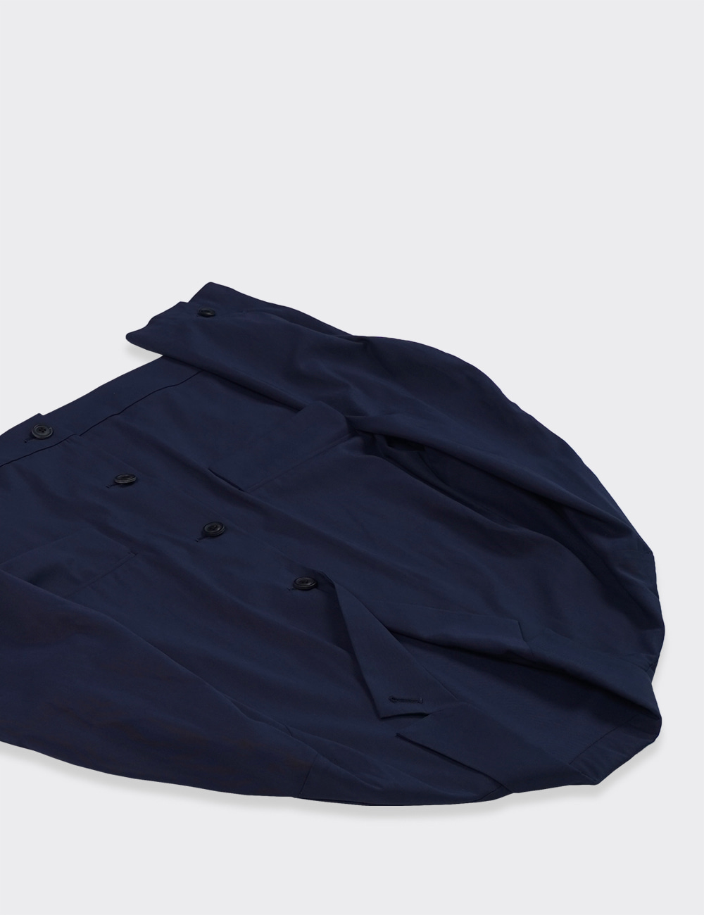 URU : COTTON SHORT JACKET (NAVY)
