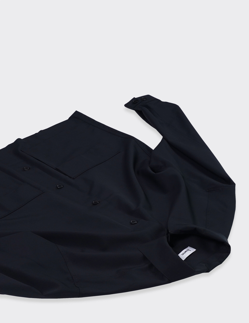 lownn : DOUBLE POCKET SHIRTS (BLACK)