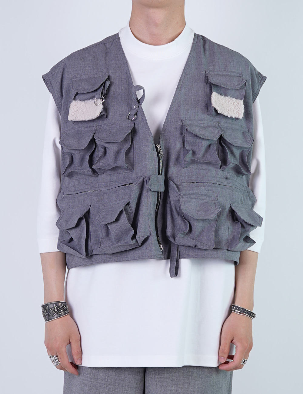 DIGAWEL : FISHING VEST (GRAY)