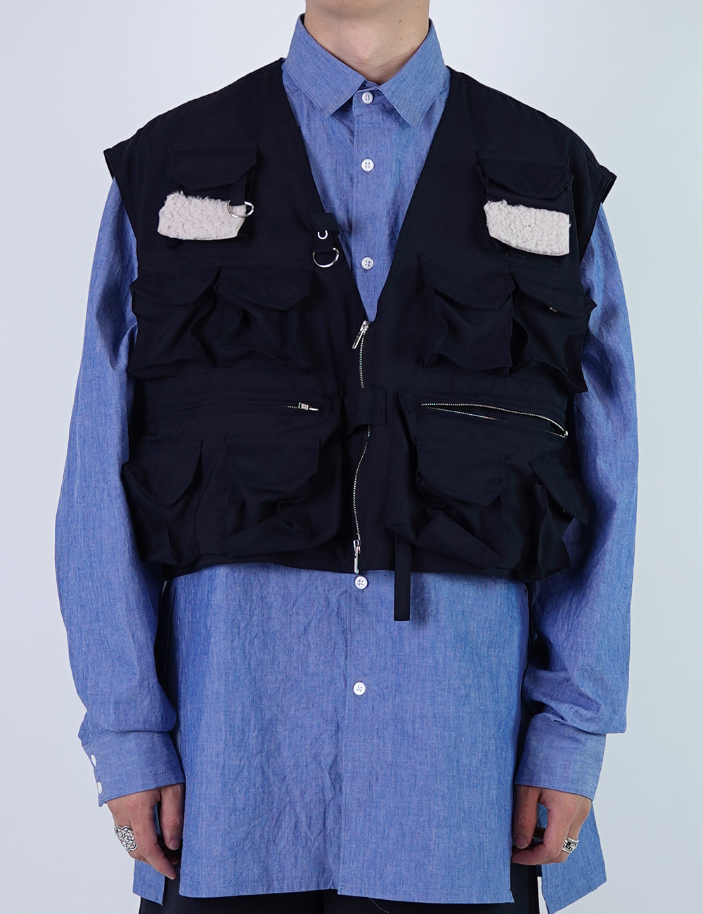 DIGAWEL : FISHING VEST (NAVY)