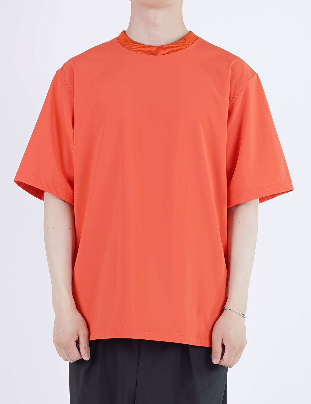momPROUDyou : HALF SLEEVE MESH TEE (ORANGE)