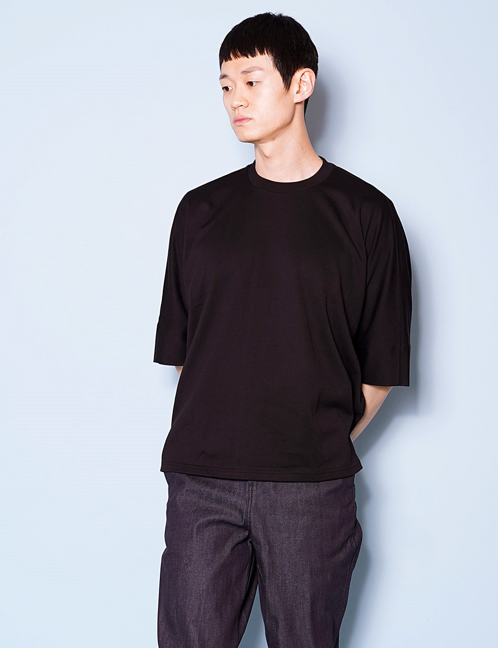 DIGAWEL : DOLMAN SLEEVE T-SHIRT (BLACK)