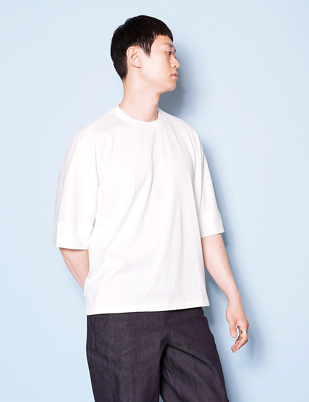 DIGAWEL : DOLMAN SLEEVE T-SHIRT (OFF WHITE)