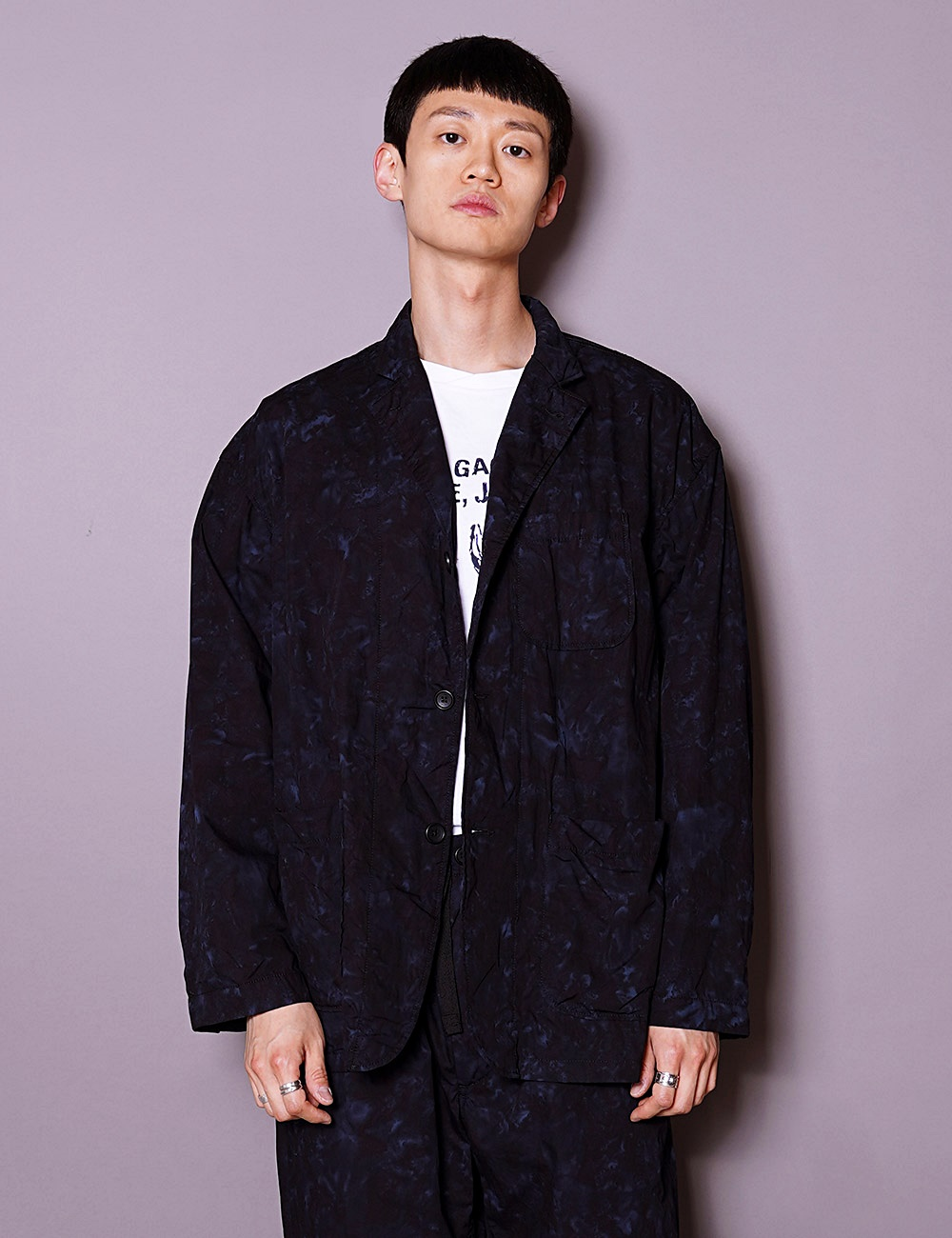 RANDT : STUDIO JACKET (NAVY/BLACK)