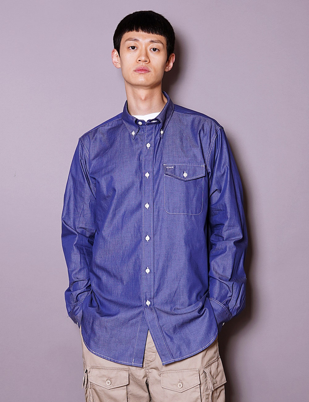 Engineered Garments WORKDAY : BD SHIRT (DARK BLUE)