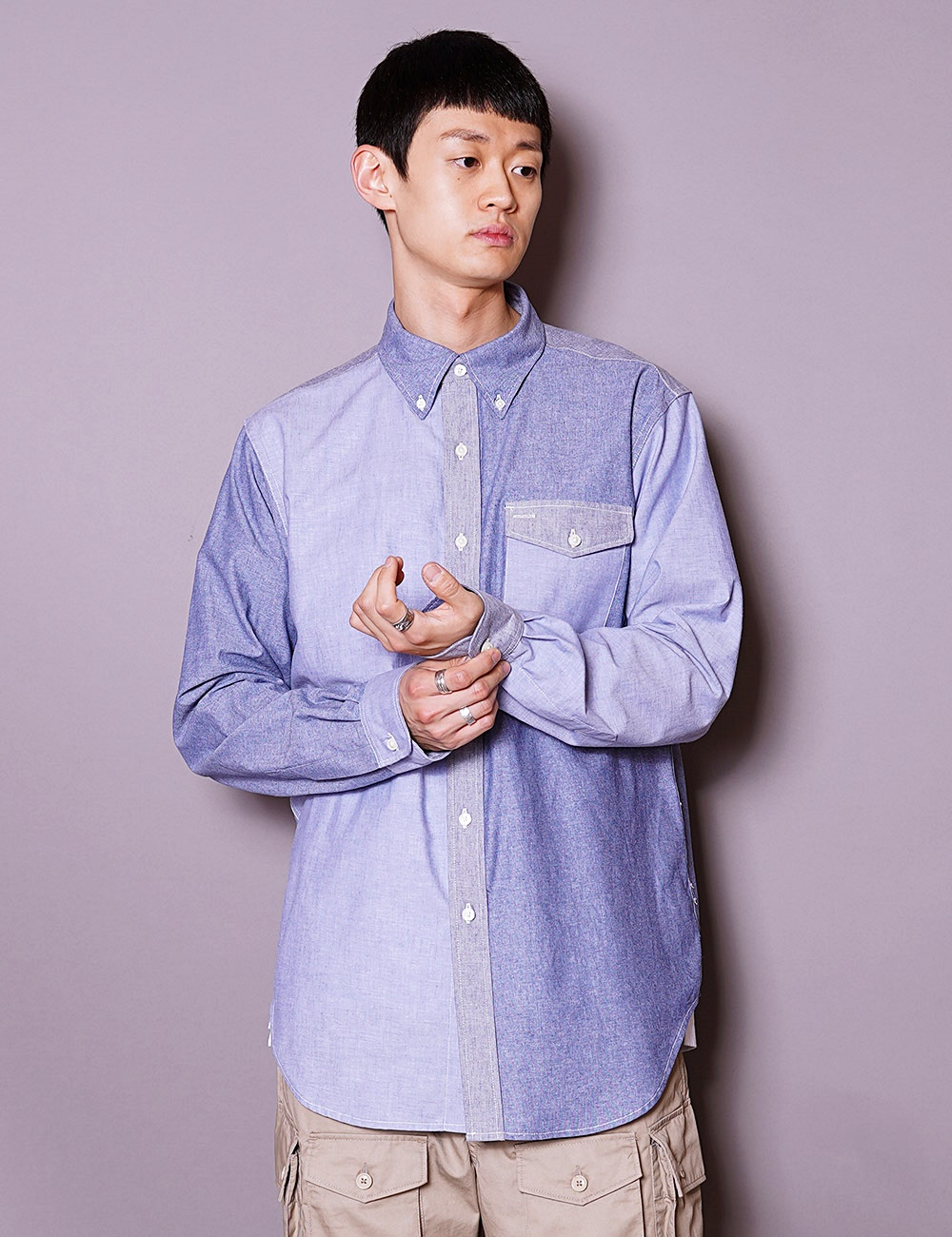 Engineered Garments WORKDAY : BD SHIRT (BLUE)